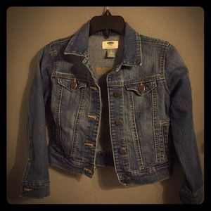 Girls medium wash jean jacket